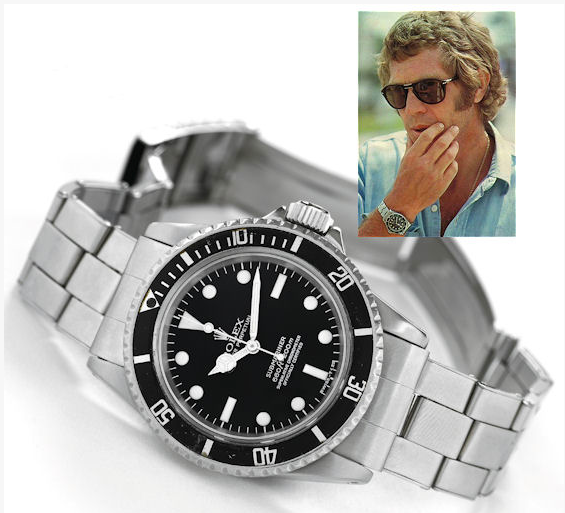 Steve McQueen and his Rolex Submariner ref 5512